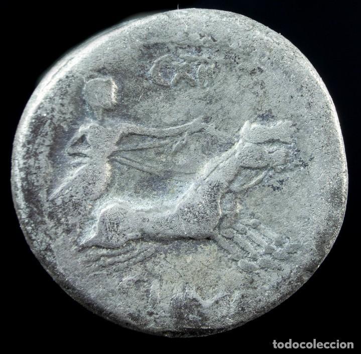 Monedas Roma República: Denario Republicano, Familia Marcia (82 AC) 16 mm / 3.46 gr. - Foto 2 - 222375972