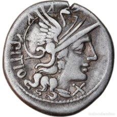 Monedas Roma República: MONEDA, SEMPRONIA, DENARIUS, ROME, MBC, PLATA, CRAWFORD:216/1. Lote 222625913