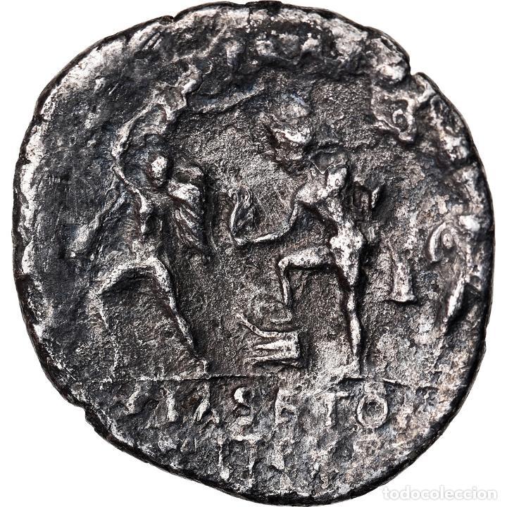 Monedas Roma República: Moneda, Sextus Pompey, Denarius, Sicily, BC+, Plata, Crawford:511/3a - Foto 2 - 222637710