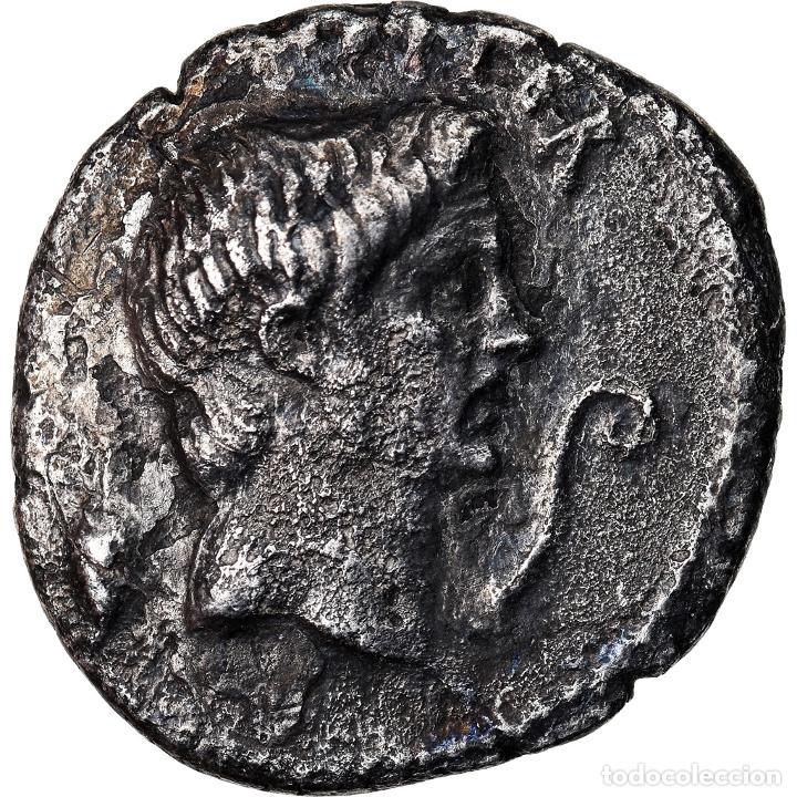 MONEDA, SEXTUS POMPEY, DENARIUS, SICILY, BC+, PLATA, CRAWFORD:511/3A (Numismática - Periodo Antiguo - Roma República)