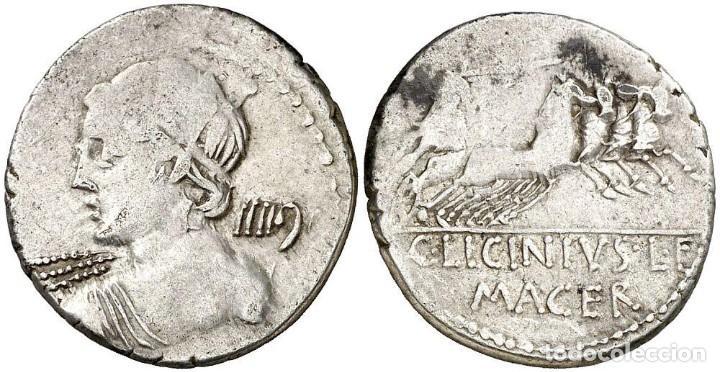 (HACIA 84 A.C.). GENS LICINIA. DENARIO. (BAB. 16) (CRAW. 354/1). 3,77 G. MBC+ (Numismática - Periodo Antiguo - Roma República)