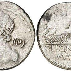 Monedas Roma República: (HACIA 84 A.C.). GENS LICINIA. DENARIO. (BAB. 16) (CRAW. 354/1). 3,77 G. MBC+. Lote 222700628