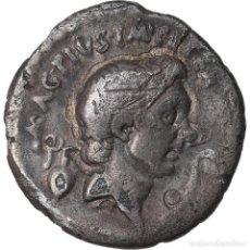 Monedas Roma República: MONEDA, SEXTUS POMPEY, DENARIUS, SICILY, BC+, PLATA, CRAWFORD:511/3A. Lote 222723021