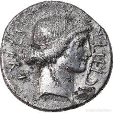 Monedas Roma República: MONEDA, JULIUS CAESAR, DENARIUS, ROME, MBC, PLATA, CRAWFORD:467/1. Lote 222726648