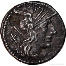 Monedas Roma República: MONEDA, FABIA, DENARIUS, ROME, MBC+, PLATA, CRAWFORD:268/1A. Lote 222849007