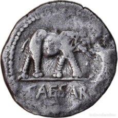 Monedas Roma República: MONEDA, JULIUS CAESAR, DENARIUS, TRAVELING MINT, BC+, PLATA, COHEN:49. Lote 222849085