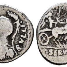 Moedas Roma República: SERVILIA. DENARIO. 100 A.C. NORTE DE ITALIA. CABEZA DE MINERVA. MBC-. Lote 223757191