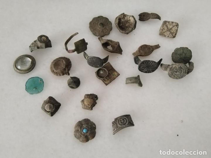 LOTE ENTALLE ANILLO ROMANO. IBERO MEDIEVAL ALGUNO LABRADO Y CON PIEDRA (Numismática - Periodo Antiguo - Roma República)