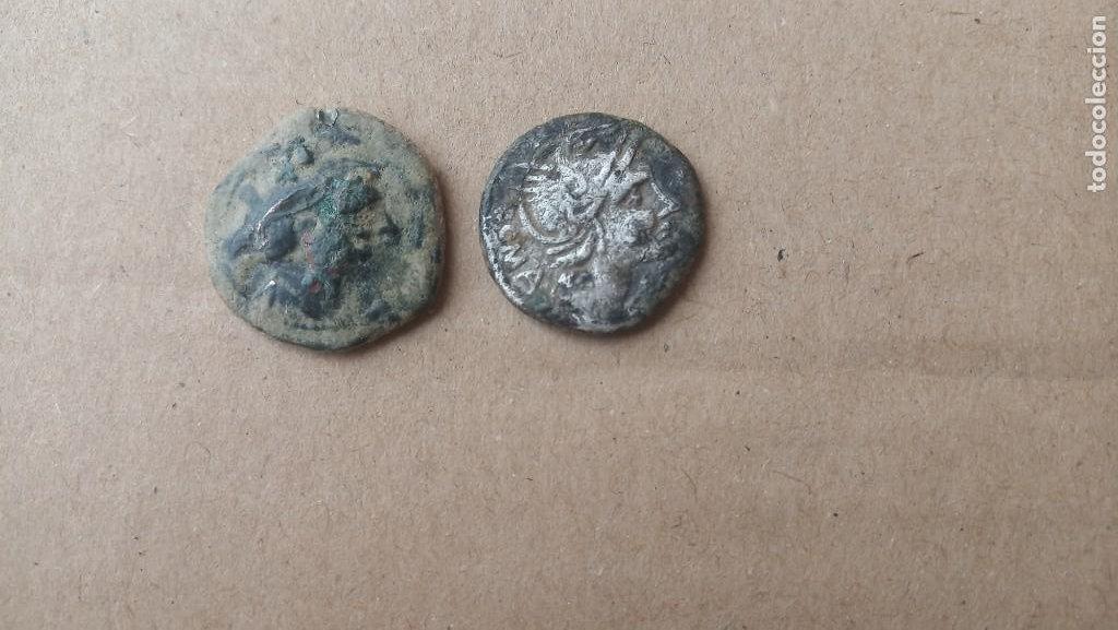 LOTE DE SEMIS Y DENARIO DE LA REPUBLICA ROMANA. (Numismática - Periodo Antiguo - Roma República)