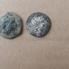 Monedas Roma República: LOTE DE SEMIS Y DENARIO DE LA REPUBLICA ROMANA.. Lote 244443705