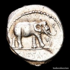 Monedas Roma República: JULIO CÉSAR. DENARIO, 49 AC. GALIA. ELEFANTE/ATRIBUTOS SACERDOTALES. Lote 244482525
