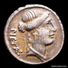 Monedas Roma República: REPÚBLICA ROMANA - ALBINUS BRUTI F., DENARIO. ROMA 48 AC. CADUCEO. Lote 244573920