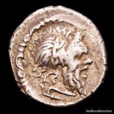 Monedas Roma República: D. JUNIUS L.F. SILANUS, DENARIO. ROMA, 91 A.C. VICTORIA EN BIGA.. Lote 244575360