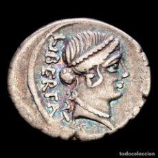 Monedas Roma República: REPUBLICA ROMANA. LOLLIUS PALIKANUS 45 BC. ROMA. DENARIO AR.. Lote 244593175