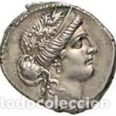 Monedas Roma República: PRECIOSO DENARIO DE PLATA REPUBLICANO REPÚBLICA ROMANA HOSTILIA L HOSTILIUS SASERNA 48 A.C.. Lote 244796445
