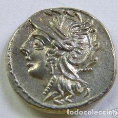 Monedas Roma República: BONITO DENARIO DE PLATA REPUBLICANO REPÚBLICA ROMANA COELIA C. COELIUS CALDUS 104 A.C.. Lote 244800400