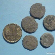 Monedas Roma República: LOTE DE 5 MONEDAS ROMANAS SIN LIMPIAR - PEQUEÑOS BRONCES Y COBRES - EN BOLSITA - FOTOS DE 2 CARAS. Lote 245493430