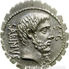 Monedas Roma República: PRECIOSO DENARIO REPÚBLICA ROMANA FAMILIA VETTIA T VETTIUS SABINUS DENARIO SERRADO ROMA 70 AC. Lote 245978260