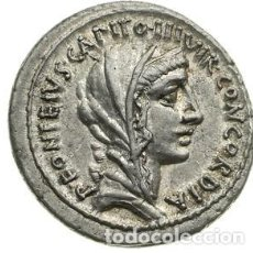 Monedas Roma República: PRECIOSO DENARIO REPÚBLICA ROMANA FAMILIA DIDIA TITUS DIDIUS VILLA PUBLICA ROMA 55 AC. Lote 246251835