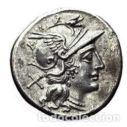 PRECIOSO DENARIO ROMANO REPÚBLICA REPUBLICANO ESCRIBONIA PLATA ROMA 154 AC PRECIOSA MONEDA EX-VARESI (Numismática - Periodo Antiguo - Roma República)