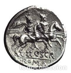 Monedas Roma República: Precioso Denario Romano República Republicano ESCRIBONIA Plata Roma 154 AC Preciosa Moneda EX-VARESI - Foto 2 - 174237030