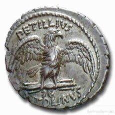 Monedas Roma República: DENARIO REPUBLICANO REPÚBLICA ROMA PETILLIA PETILLUS CAPITOLINUS TEMPLO JUPITER 43 A.C.. Lote 246298330