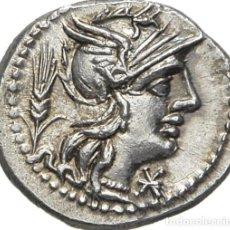 Monedas Roma República: PECIOSO DENARIO PLATA FAMILIA DOMITIA DOMITIUS AHENOBARBUS AÑO 119 ANTES DE CRISTO. Lote 251036330
