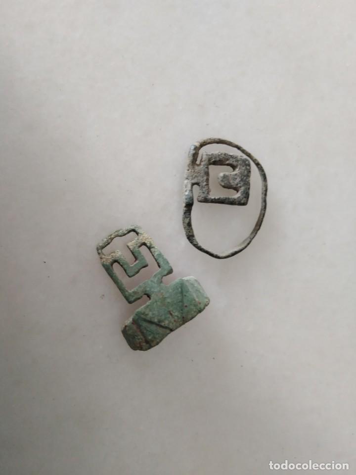 RARO LOTE ANILLOS LLAVE ROMANOS (Numismática - Periodo Antiguo - Roma República)
