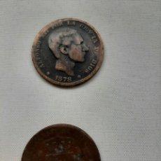 Monedas Roma República: DOS MONEDAS 10 CENTIMOS DEL 1878. Lote 254379895