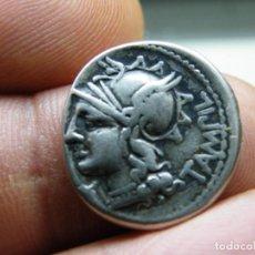 Monedas Roma República: PRECIOSO DENARIO REPUBLICANO, FAMILIA BAEBIA. (ELCOFREDELABUELO). Lote 255622340