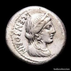 Monedas Roma República: REPÚBLICA L. MARCIUS CENSORINUS. DENARIO. ⏊XXXV C•LIMETA P CREPVSI. Lote 261534370