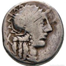 Monedas Roma República: C. PORCIUS CATO 123 . ROME DENARIUS AR 17 MM, 3,81 G REPÚBLICA ROMANA. Lote 261598190