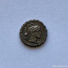 Monete Roma Repubblica: DENARIO ROMANO SERRATUS GENS PAPIA EN PLATA. Lote 261941390