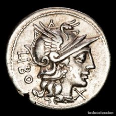 Monedas Roma República: Q. MARCIUS LIBO, DENARIO DE PLATA. 148 A.C. - LIBO / Q·MARC (666). Lote 262916790