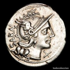 Monedas Roma República: ROMA REPÚBLICA , M. ATILIUS SARANUS. ROMA, 148 A.C. SARAN / M.ATIL. Lote 262920920