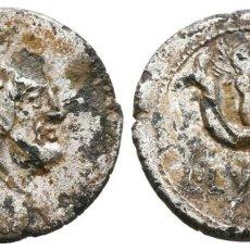 Monedas Roma República: *** ESCASO DENARIO FORRADO DE L. LUCRETIUS TRIO. 74 A.C. ROMA. CUPIDO SOBRE DELFÍN. CRAW 390/2 ***. Lote 266317413
