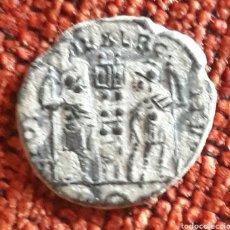 Monedas Roma República: MONEDA ROMANA CONSTANTINO MAGNO CENTENIONAL (MENGUANTE) IMITACIÓN HISPÁNICA. Lote 266942589