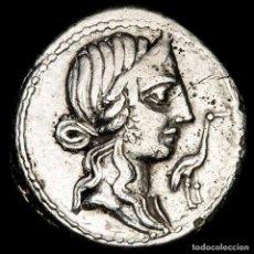Monedas Roma República: CAECILIUS METELLUS PIUS - DENARIO. 81 A.C. IMPER JARRA Y LITUUS.. Lote 270555628