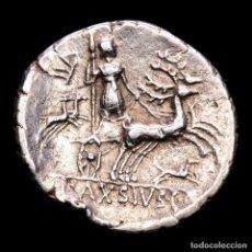 Monedas Roma República: LUCIUS AXIUS L.F. NASO ROMA 71 AC. DENARIO DIANA EN BIGA DE CIERVOS. Lote 276255683