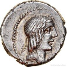 Monedas Roma República: [#867363] MONEDA, CALPURNIA, DENARIUS, 90 BC, ROMA, EBC+, PLATA, CRAWFORD:340/1. Lote 278210703