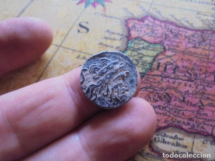 BONITO CUADRANTE ROMANO A IDENTIFICAR, BONITA PATINA NEGRA (Numismática - Periodo Antiguo - Roma República)