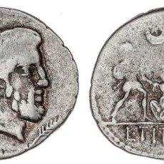 Monedas Roma República: REPUBLICA ROMANA! DENARIO! PLATA! L. TITURIUS SABINUS 89 A.C.! MBC+! ESCASO. TITURIA. Lote 280118453