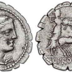 Monedas Roma República: PROCILIA. DENARIO. SUR DE ITALIA (80 A.C.). FFC-1082. SB-2. EBC-.. Lote 280118588