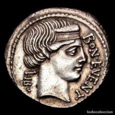 Monedas Roma República: L. SCRIBONIUS LIBO. DENARIO. 62 A.C. PUTEAL SCRIBONIANUM, TENAZAS. Lote 287975168