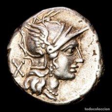 Monedas Roma República: REPÚBLICA ROMANA - C. PLUTIUS. DENARIO. ROMA 121 A.C. DIOSCUROS. Lote 287982293