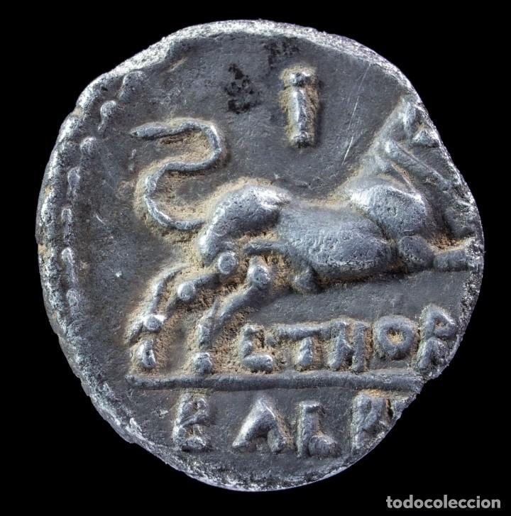 Monedas Roma República: Denario Republicano, Familia Thoria (105 a.C.) - 16 mm / 2.52 gr. - Foto 2 - 288559983