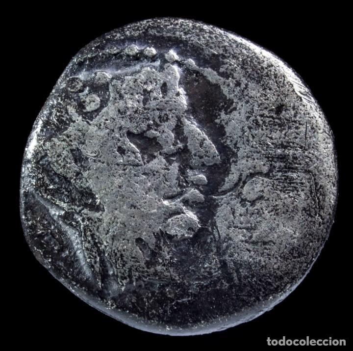 QUINARIO REPUBLICANO, FAMILIA PORCIA (89 A.C.) - 13 MM / 1.42 GR. (Numismática - Periodo Antiguo - Roma República)