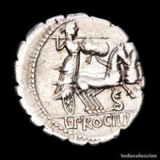 Monedas Roma República: L. PROCILIUS, DENARIO DE PLATA. CECA DE ROMA, 80 A.C. L•PROCILI•F. Lote 288901493