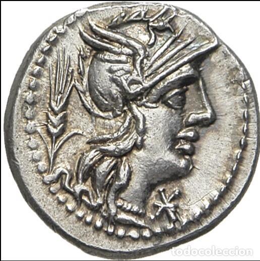 Monedas Roma República: Precioso Denario Plata Familia DOMITIA Domitius Ahenobarbus Año 119 Antes de Cristo - Foto 2 - 289681098