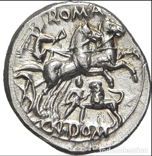Monedas Roma República: Precioso Denario Plata Familia DOMITIA Domitius Ahenobarbus Año 119 Antes de Cristo - Foto 3 - 289681098